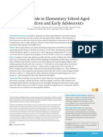 Suicide in Elementary School-Aged Children and Early Adolescents