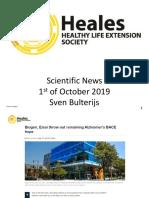 Scientific News 1st of October 2019