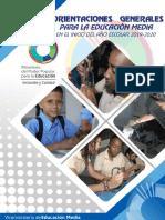 Orientaciones Generales de Educación Media en El Inicio Del Año Escolar 2019-2020(1)