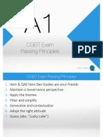 A1 ‐ CGEIT Exam Passing Principles