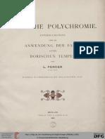 Ludvig Peter Fenger, Dorische Polychromie