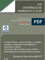 (1) Admissão e Alta UTI