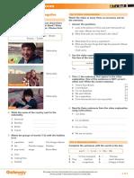Gateway A1+ Teacher's Resources UNIT 1 Flipped classroom video worksheet