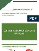 EQUIPOS MINEROS SUBTERRANEOS