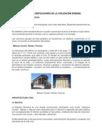 Principales Edificaciones de La Civilización Romana