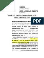 Demanda de Impugnacion de Acuerdos de Asamblea de Asociacion-cooperativa de Vivienda Los Chancas