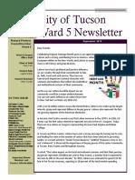 Ward 5 Councilmember Richard Fimbres - September 2019 Newsletter