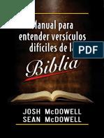 Manual Para Entender Versículos Difíciles de La Biblia (Josh McDowell - Sean McDowell)
