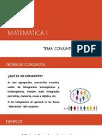 Tema. Conjuntos y Variables