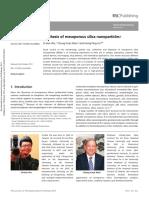 artikel tentang silika mesopori