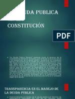 La Deuda Publica en La Constitución Villegas 2019