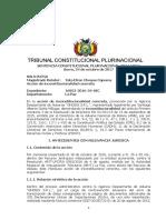 SENTENCIA CONSTITUCIONAL PLURINACIONAL DE BOLIVIA