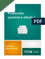 Proteccion Neconomiaominal y Efectiva
