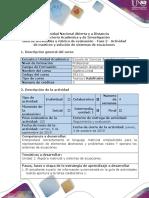 Guía de Actividades y Rúbrica de Evaluación - Fase 2 - Actividad de Matrices y Solución de Sistemas de Ecuaciones