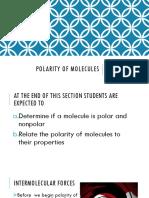 7. Polarity of Molecules