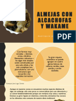 Eustiquio Jose Lugo Gomez_Almejas Con Alcachofas y Wakame