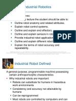 LECTURE 05- Industrial Robotics