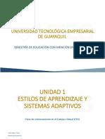 Unidad 1 Estilos de Aprendizaje y Sistemas Adaptativos 1