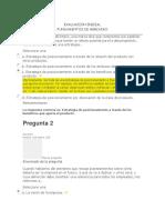 Evaluación Inicial Fundamentos de Mercadeo