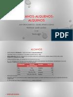 ALCANOS ALQUENOS ALQUINOS