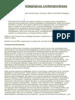 Corrientes Pedagógicas Contemporáneas