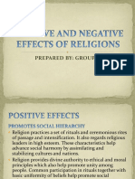 Positive and Negative Effects of Religions. Group 2 (1)