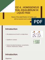 Presentacion p4. Euilibrio Quimico Homogéneo en Fase Líquida