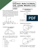 Geometría 10 Relaciones Métricas en El Triángulo Rectángulo y en La Circunferencia