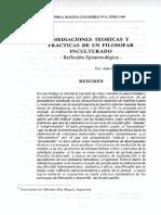 Mediaciones teoricas y practicas ennel filosofar