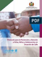 Protocolo para la Prevención y Atención a Niñas, Niños y Adolescentes en Situación de Calle