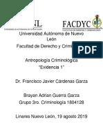 Evidencia Del Equipo 1- Antropología Criminologica