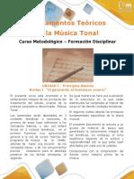 Método Fundamentos Teóricos de La Música Tonal