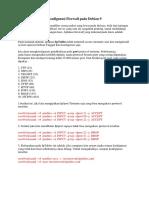 Konfigurasi Firewall Pada Debian 9