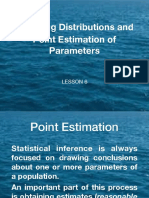 Lesson 6 Point Estimate