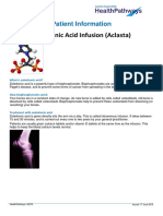 Zoledronic Acid Infusion PI