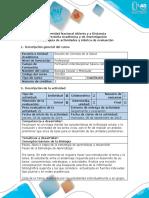 Guía de Actividades y Rúbrica de Evaluación - Tarea 1 - Elaborar Mapa Mental Sobre Los Principios Generales de La Biología