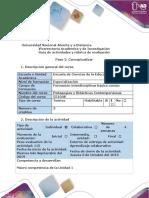Guía de Actividades y Rúbrica de Evaluación - Paso 2 - Conceptualizar