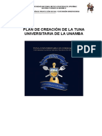 Plan de Creacion de La Tuna Universitaria