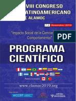Programa Científico XVIII CLAMOC 12set 2