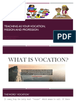 Teaching as a Vocation Mission and Vocation