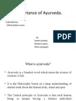 Importance of Ayurveda