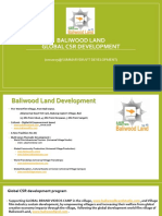 baliwood land global csr development