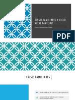 Clase Crisis Familiares y Ciclo Vital Familiar