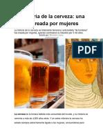 historia de la cervesa