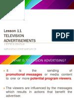 Lesson 11 Tv Ads