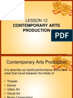 Lesson 12 Theater Production