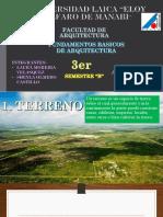 Terreno, Clima, Vegetacion y Paisaje Cultural