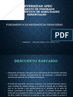 Matematica Financiera Descuento Bancario