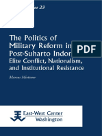 The Politics of Military Reform in Post-Suharto Indonesia. Elite Conflict, Nationalism, and Institutional Resistance.pdf