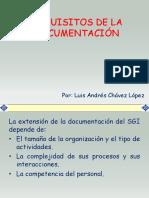 requisitos de la documentación